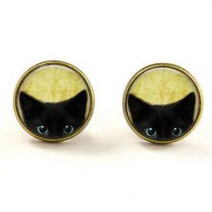 Cute Black cat earrings