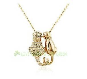 Double Cat Necklace