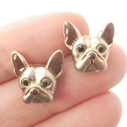 French bulldog stud earrings - jewelry for dog lovers