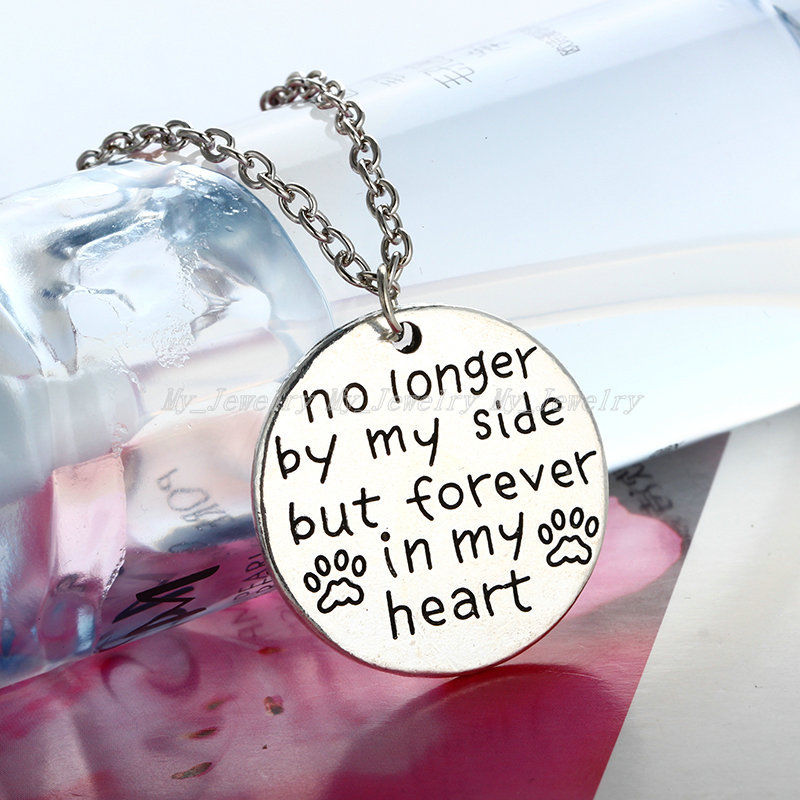 No longer by my side but forever in my heart necklace every no longer by my side but forever in my heart necklace aloadofball Choice Image