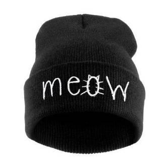Meow Hat Black