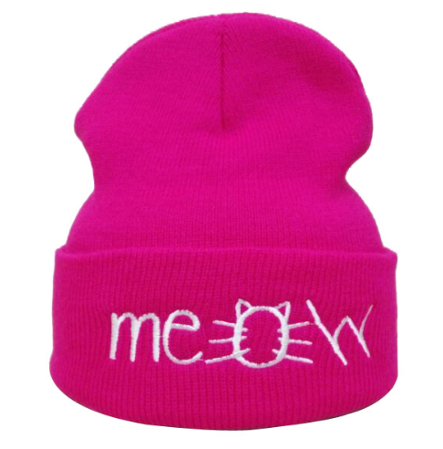 Meow Hat - Hot Pink