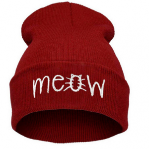 Red Meow Hat