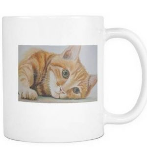 Orange Tabby Cat Coffee Mug